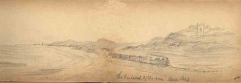 'The Railroad by the Sea'.   AHH. Sketch. August 1914