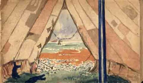 Looking out to Sea: AHH Painting: Aug. 1914