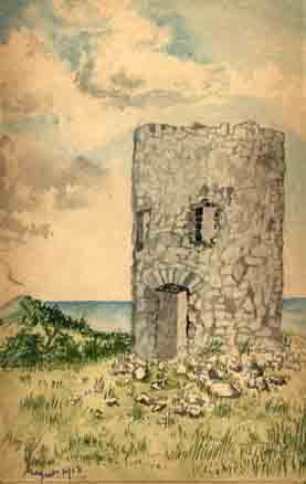 Abergele Tower: AHH Sketch Aug.1914