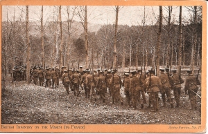Infantry on the March in France: Hibbett PC Collection.