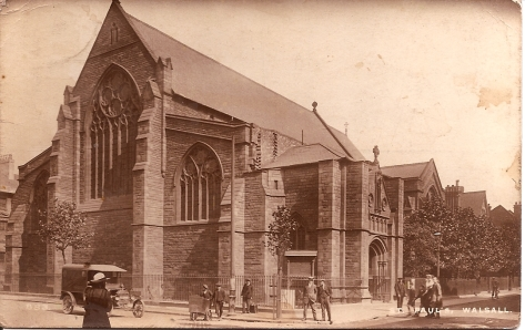 St Paul's Walsall 1914. Now called St Paul's at the Crossing.
