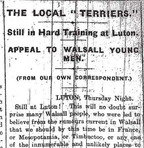 Nov 1914 Still in Luton Press