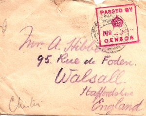 3rd March 1915 Envelope