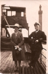 Chief Engineer F.A Goodison & daughter Madge Goodison. Grimsby 1930.