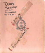 R.A.M.C Autogrphed Cigarette Papers. Red Cross Hospital. 1916.