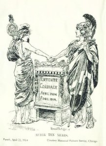 WW1 Postcard: Entente Cordial