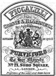 Piccalillie Advert. Crosse & Blackwell 1867.