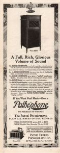 Pathephone Advertisement 1915.