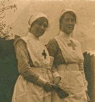 VAD Nurses Ida Hibbett & May Overend. 1915.