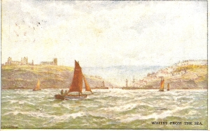 Whitby from the Sea. Linden Series Post Card.