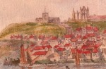 Whitby. Watercolour. A.H. Hibbett. from PC The Linden Series.