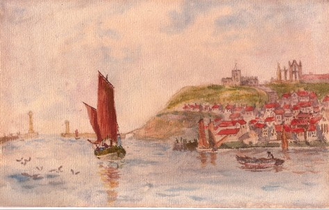 Whitby. Watercolour. A.H. Hibbett. from PC