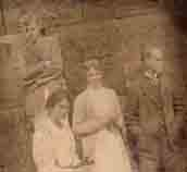 Hibbett Family Whitby 1915. From Left: Basil, Hilda Bore, Mother & Father. Photo Harold.
