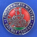 London & North Western Railway Company Badge.