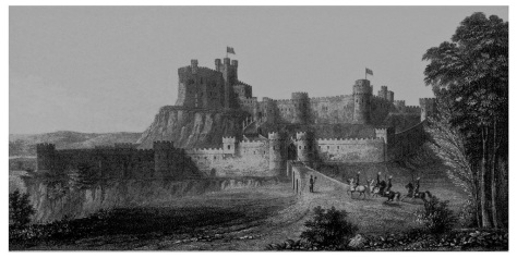 Nottingham Castle in 16th Cent. T.C.Hine 1813-1891.