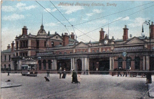 Derby Midland Railway Station. 1915