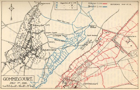 British & German front Lines at Fonquevillers/ Gommecourt.