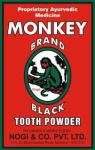 Monkey Brand Black Tooth Powder.