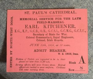 Earl Kitchener.