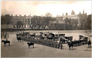 Field Ambulance on Parade. Location unknown
