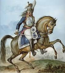 Cuirassier with sword.